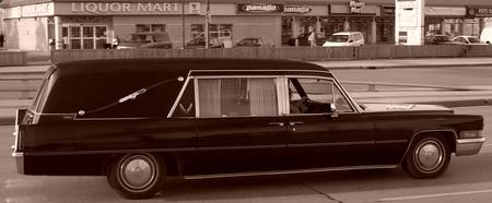 Badass Old School Hearse