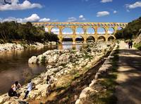 Sunday by the Roman Aquaduct - Pont du Gard