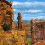 """Impressionist Utah Art; Arches National Park"" by Lenora"