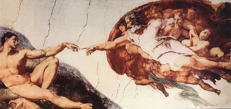 Michelangelo's Creation of Adam, Sistine Chapel.
