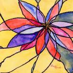 """Abstract Stained Glass Flower"" by Lenora"