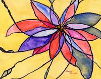 Abstract Stained Glass Flower