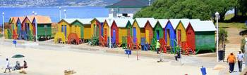 probably the brightest beach huts in the world
