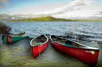 Three Canoes on Eagle Lake