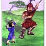 """Bible Story: David and Goliath"" by SherryHolderHunt"