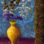 """Still Life; Impressionist Dried Flowers, Vase"" by Lenora"