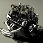 """Chevy 327 small block"" by vizualtech"