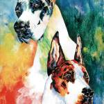 """""""Fire and Ice Great Dane"""" by KathleenSepulveda"""