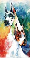 Fire and Ice Great Dane