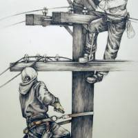 """What was and Is (lineman)"" by cathryns"