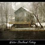 """Winter Steelhead Fishing Pulaski NY"" by saddogshirts"