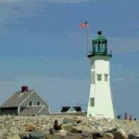 Old Scituate Lighthouse Art Prints & Posters by Lehane Corley McCourt