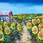 """SUNFLOWERS"" by claudemarshall"