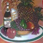 """Green Plate of Holiday Fruit"" by CASB"