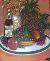 Green Plate of Holiday Fruit