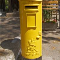 Pillar Box in the Troodos Mountains Art Prints & Posters by philipsimpson