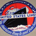 """Vintage United States Lines Luggage Sticker"" by atomicbuzz"