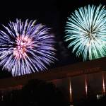 """Fireworks over Hearnes Center"" by nathnflickr"