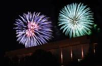 Fireworks over Hearnes Center