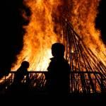 """The boy and valborg bonfire"" by hiranya"