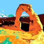 """Delicate Arch Utah - Digital Artwork - Pop Art"" by Art-America"
