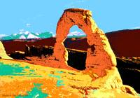 Delicate Arch Utah - Digital Artwork - Pop Art