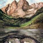 """Maroon Bells Colorado - Landscape Art Painting"" by Art-America"
