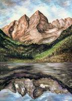 Maroon Bells Colorado - Landscape Art Painting