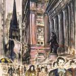 """New York Wall Street - Fine Art Painting"" by Art-America"