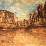 """Utah Red Rocks - Landscape Art Painting"" by Art-America"