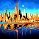 """Magic City USA - Digital Fantasy Artwork"" by Art-America"