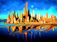 Magic City USA - Digital Fantasy Artwork