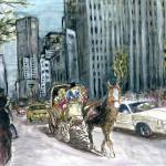 """New York 5th Avenue - Fine Art Painting"" by Art-America"