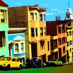 """San Francisco Nob Hill - Pop Art Print"" by Art-America"