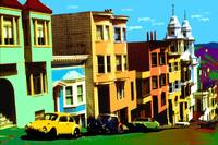 San Francisco Nob Hill - Pop Art Print