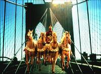 Roman Horses on Brooklyn Bridge New York - Fantasy