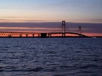 Mackinac Bridge, Sunset