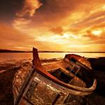 """Shipwreck at Geldinganes, Iceland"" by Villi"