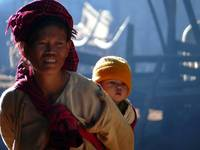 Myanmar - Pao Woman and Her Baby
