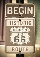 Route 66 - Begin sign in Chicago.