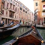 """Gondolas in Venice"" by dallaspoore"