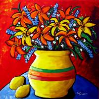 """Colorful Lilies and Lemons"" by Renie Britenbucher"