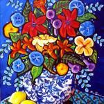 """""""Summer Bouquet with lemons"""" by reniebritenbucher"""