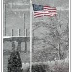"""Flag Flies in Blizzard"" by greg_rogers"