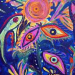 """Strange Bouquet (detail 5 eyes)"" by sondrasula"
