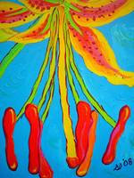Circus Lily (detail 1 stamens)