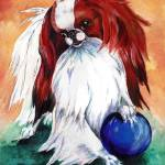 """My Ball Japanese Chin Dog"" by KathleenSepulveda"