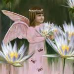 """""""Angel and Butterflies"""" by angelartbyeve"""