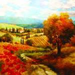"""Dodogne Vineyard"" by kanayoede"