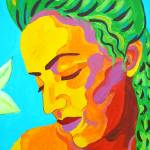"""""""Madonna of the Eggplant (detail 3 face)"""" by sondrasula"""
